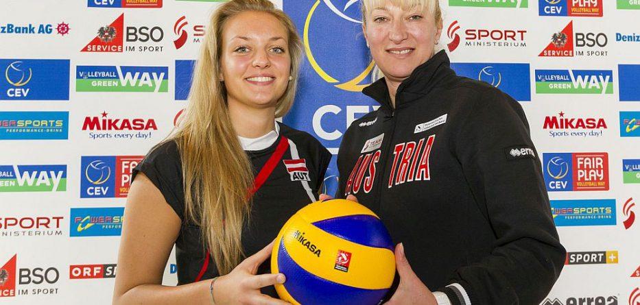 ÖVV-Teamspielerin Dana Schmit und ÖVV-Teamchefin Svetlana Ilic © ÖVV/Martin Steiger