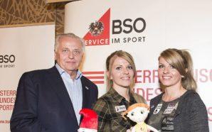 BSO-Präsident Rudolf Hundstorfer mit den Jiu Jitsu-Kämpferinnen Mirnesa und Mirneta Becirovic © BSO/Leo Hagen