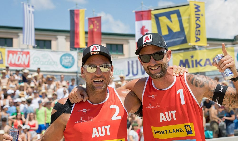 FIVB World Tour Baden Open, Clemens Doppler/Alex Horst 2018 - FOTO © Rainer Mirau