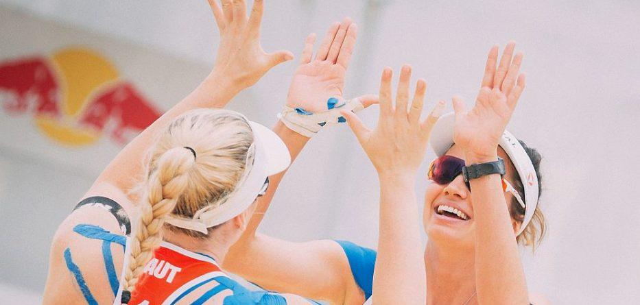 FIVB World Tour Baden Open, Katharina Schützenhöfer/Lena Plesiutschnig 2018 - FOTO © EXPA/ Florian Schroetter