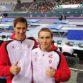 Martin Spatt (l.) und Benny Wizani (r.) in der Weltcup-Wettkampfhalle in Baku © ÖFT